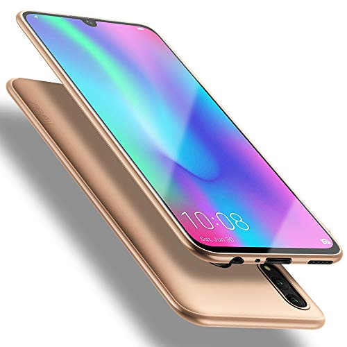 Honor 10 Lite Hülle, [Guardian Serie] Soft Flex Silikon Premium TPU Echtes Telefongefühl Handyhülle Schutzhülle Kompatibel mit Honor 10 Lite Case Cover - Gold
