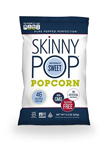 Great Price! SkinnyPop Popcorn, Naturally Sweet, 4.4 Ounce (Pack of 12) by SkinnyPop