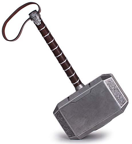 AFDLT Marvel Martillo de Thor, Martillo de Batalla de Thor, Vengadores, Martillo de Tamaño Natural para Hombres Nuevos