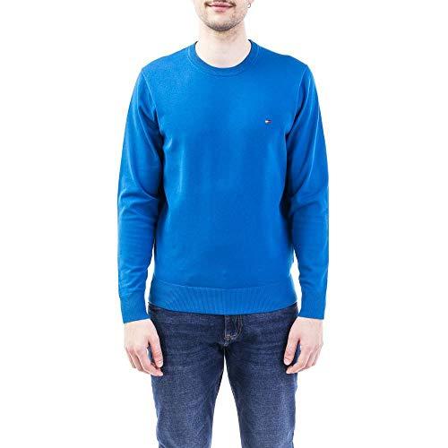 Tommy Hilfiger Herren Th Flex Crew Neck Sweatshirt, Blau, Large (Herstellergröße:)