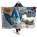 Baulred South America Market Couverture à capuche super douce 152 x 50 cm pour adulte Cape adapté...