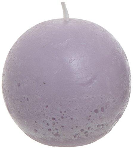 SIA Home Fashion - Candela sferica Non-profumata in Cera di SOYA, 9 cm Viola