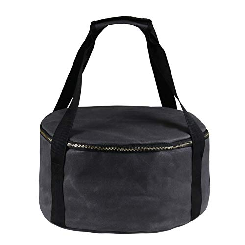 Lixada Camping Stoves Storage Bag Travel Portable Pot Bag Cast Iron Pan Dustproof Bag Enamel Pot Package Suitable for 30.5cm Pan