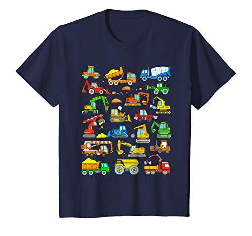 Kids Digger Shirt Construction Truck Toddler Boy Trucks Diggers T-Shirt