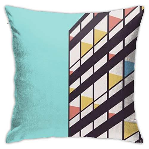 fenrris65 Le-Corbusier-Florent-Bodart - Funda de almohada cuadrada para sofá, coche, cama, decoración del hogar, 45,7 x 45,7 cm