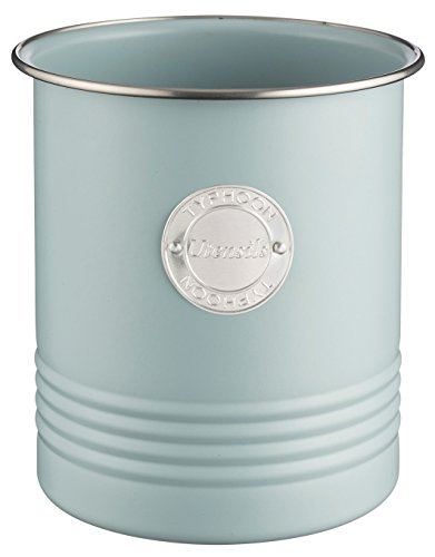 Typhoon Living Utensil Pot, Steel, Blue, 12.5 x 12.5 x 15 cm