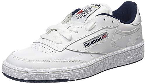 Reebok Club C 85, Scarpe da Fitness Unisex-Bambini, Bianco (INT/White/Navy 000), 34.5 EU