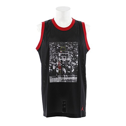 NIKE Jsw Last Shot Mesh Jersey Camiseta de Tirantes, Nero/Gym Rosso/Gym Rosso, X-Large