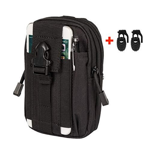 Xidan 1000D Nylon étuis pour téléphone Pochette tactique MOLLE téléphone Sac randonnée avec boucle crochet de ceinture pour smartphones multiples + 1 Sangle MOLLE