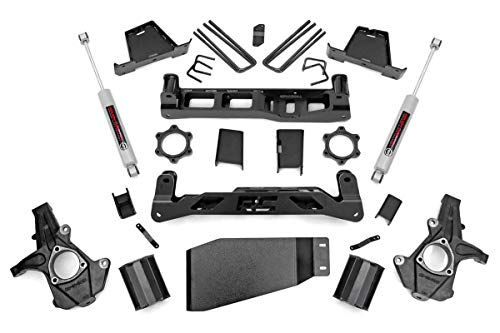 Rough Country 7.5' Lift Kit (fits) 07-13 Chevy Silverado GMC Sierra 1500 4WD | N3 Shocks | Knuckle Suspension | 26430