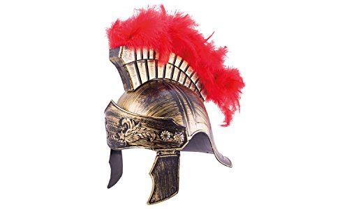 Erlebnis Mittelalter Helme für Kinder / Karneval / Fasching / Ritter / Wikinger / Römer (Römerhelm royal aus Kunststoff)