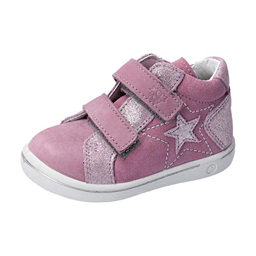 RICOSTA Mädchen Lauflern Schuhe MIA von Pepino, Weite: Mittel (WMS), Halbschuh Klettverschluss flexibel leicht Kinder Kids,Purple,27 EU / 9 Child UK