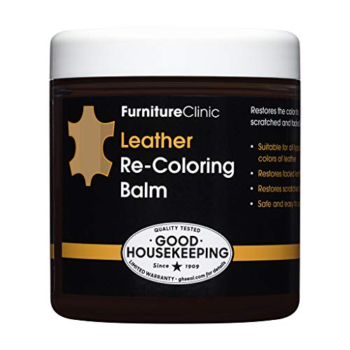FurnitureClinic Leather Re-Coloring Balm | Non Toxic Leather Color Restorer | for Faded & Scratched Leather Car Seats, Couches, Boots (Beige), 8.5 fl oz
