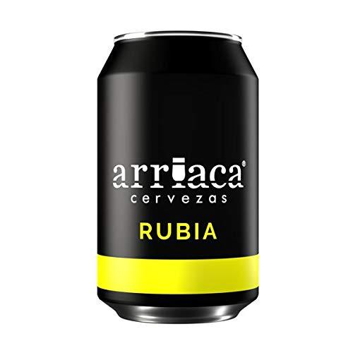 Cerveza Artesanal ARRIACA RUBIA 33cl (Caja 24 latas)