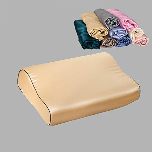Silk Pillowcase 40X60Cm 30X50Cm European American Style With Zipper Pillowcase Rectangle Pillow Cover Silk Throw Pillowcases Cushion Cover-Camel_40X60Cm 1Pc