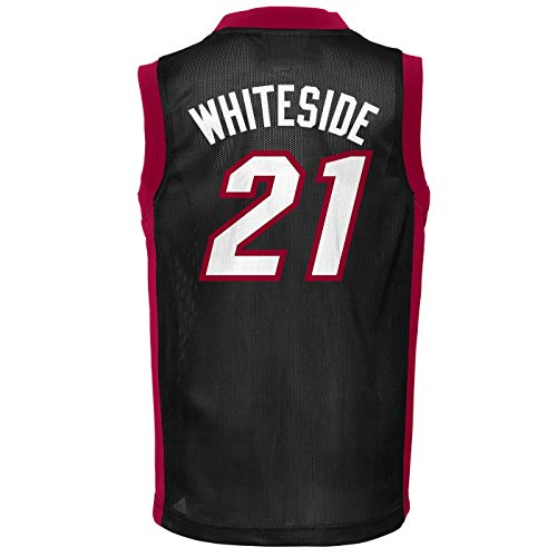 Outerstuff Hassan Whiteside Miami Heat #21 Black Youth Player Jersey (Small 6/7)