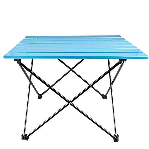 Table de Camping en Plein air en Aluminium Table de Pique-Nique Pliante légère et Portable Facile à Plier Installation Stockage Table Pliante multifonctionnelle pour Barbecue Pique-Nique