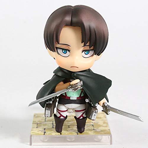 Anime Attack On Titan Eren Jaeger 375 Levi 390 Limpieza 417 PVC Figura De Acción De Colección Modelo Figuras De Juguete 10Cm