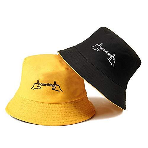 A-HXTM Bucket Hat Casual Sun Letter Männer Frauen Hip Hop Caps Faltbarer doppelseitiger Tanzhut Casual Bewerben Sie Sich auf Urlaub Camping Jagd Reisen und vieles mehr-Color_4