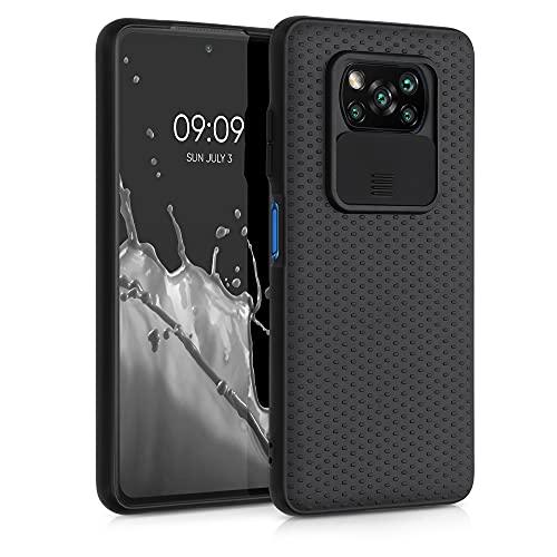 kwmobile Funda Compatible con Xiaomi Poco X3 NFC/Poco X3 Pro - Caracasa de Silicona TPU con Tapa para cámara - Negro
