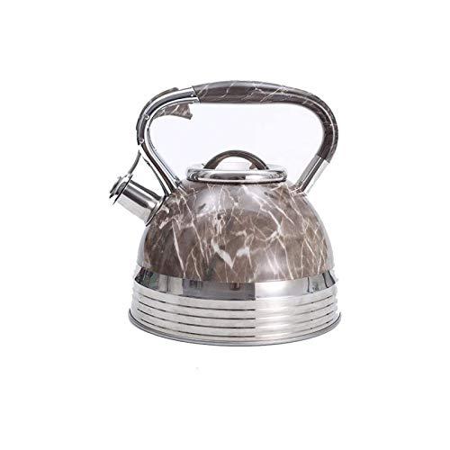 Kettle de silbato portátil Tetera de silbidos Teteras de camping 3.5L Dali Rayas Estilo europeo Silbato de acero inoxidable Kettle Tetera de té Botella de agua de viaje adecuada para camping fam