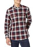 Amazon Brand - Goodthreads Men's Standard-Fit Long-Sleeve Plaid Herringbone Shirt, Navy Eclipse, X-Large