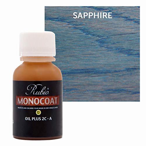 Rubio Monocoat Oil Plus 2C-A Sample Wood Stain Sapphire 20ml