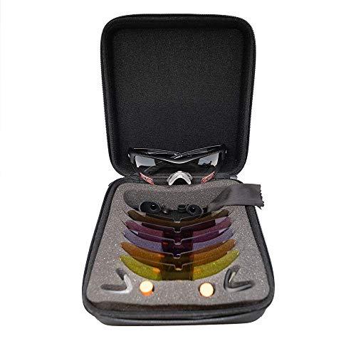 SSP Eyewear Methow 6 Lens RX-Able Trap Shooting Glasses Kit with Black Nylon Frames