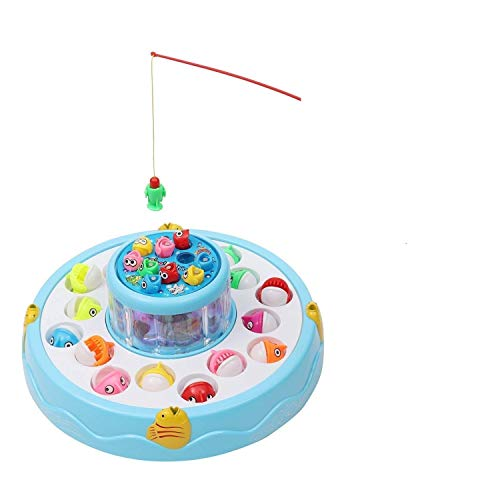 ASTHA ENTERPRISE™Fish Catching Game Big with 26 Fishes and 4 Pods, Includes Music and Lights for Kids (Multi Color)