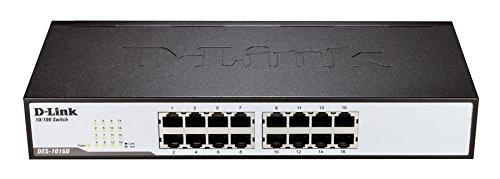 D-Link DES-1016D Switch 16 Ports Ethernet 10/100mbps - Idéal Partage de Connexion et Mise en Réseau Small/Home Office