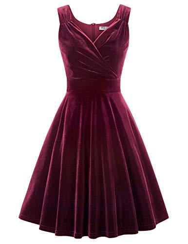 Petticoat Kleid elegant Swing Kleid Knielang cocktailkleider Retro Vintage Kleider CL108-2 M