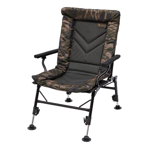 Prologic Avenger Comfort CAMO Chair W/ARMRESTS & Covers 50X38X55CM 5.5KG bis 140KG 30-45CM