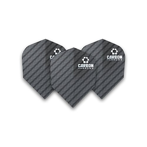 F7121 Carbon Black Std Dart Flights 3 sets pro pack (9 flights in total)