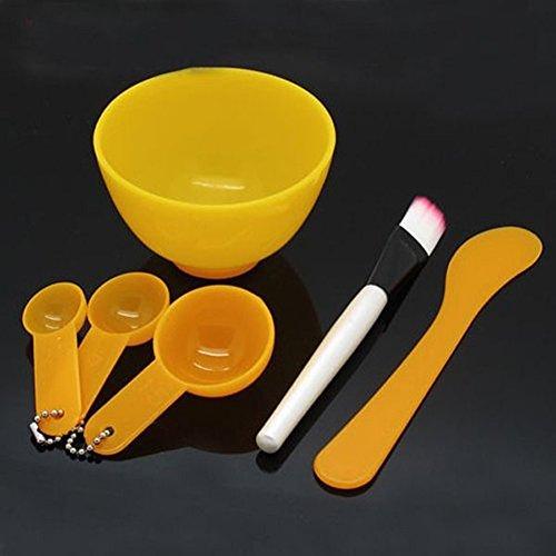 Brussels08 Lot de 6 bols à mélanger pour masque facial et masque, spatule, masque, cuillère à mesurer, soins du visage, maquillage, masque de beauté, outil de mélange pour la maison et les voyages