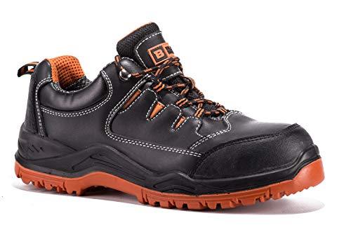 Chaussures De Sécurité Hommes Légères Baskets De Sécurité en Cuir Étanche Résistantes et Imperméables S3 SRC 9007