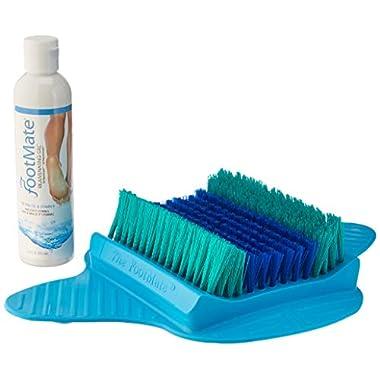 The FootMate System Foot Massager & Scrubber w/Rejuvenating Gel, Blue
