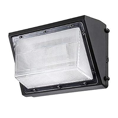LEONLITE LED Wall Pack Light 0-10V Dimmable, 80W (400W Equiv.), 8900 Lumens, 100-277V, ETL & DLC Listed, 3-Year Warranty, 1/2 Pack
