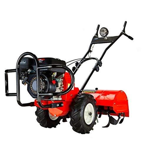 GrecoShop Motozappa/Trattore/Motocoltivatore 4 Tempi a Benzina con retromarcia 196cc 6,5HP - C-T202