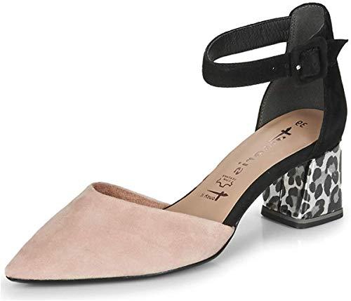 Tamaris 1-24422-24 Damen Spangenpumps Pumps Leder, Schuhgröße:40 EU, Farbe:Rosa