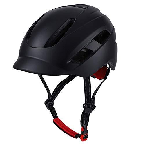 HBING Casco de Bicicleta para Adultos, Casco de Bicicletas para Hombres Mujeres urbanos, más Seguridad Ciudad de la Bicicleta de la Ciudad Liviana,Negro