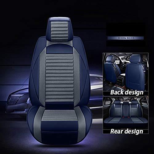 Vestibilità personalizzata Cuoio Con Lino Universal Car Seat Cover for Fiat Panda 500 Ottimo Punto Linea Sedici Viaggio Bravo Freemont Accessori auto . Accessori interni ( Color : Blue standard )