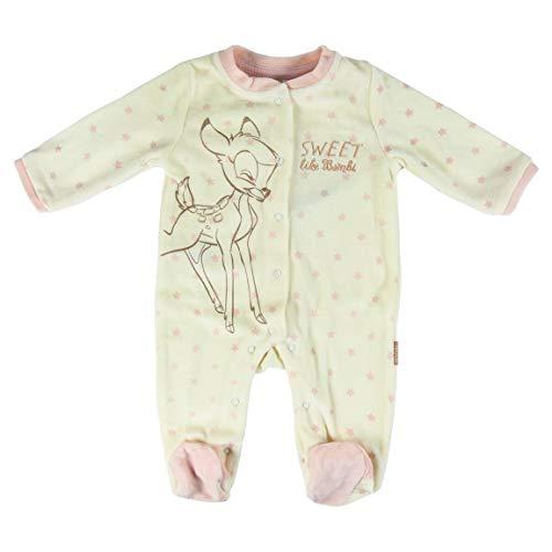 Artesania Cerda Pelele Velour Disney Bambi, Blanco (Blanco C01), 1m Unisex bebé