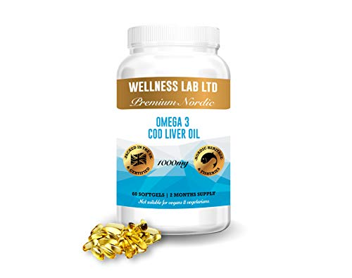Nordic Levertraan | Omega 3 | Premium uit Noorwegen | 60 softgel capsules | 1000mg
