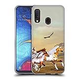 Head Case Designs Licenza Ufficiale Simone Gatterwe Mandria Selvaggia Cavalli Cover in Morbido Gel Compatibile con Samsung Galaxy A20e (2019)