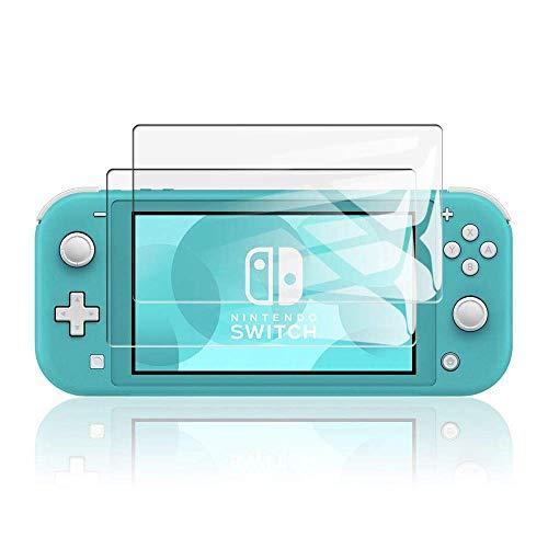 KONEE Protector de Pantalla Compatible con Nintendo Switch Lite, 【2 Piezas】 Ultra HD [ Dureza 9H, Alta Definición, Anti-Burbuja, Anti-Scratch ], Cristal Vidrio Templado para Nintendo Switch Lite