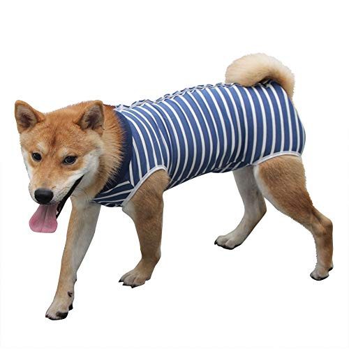 Coppthinktu Dog Recovery Suit for Abdominal Wounds or Skin Diseases, Breathable Dog Surgery Recovery Suit for Dogs, E-Collar Alternative After Surgery Wear Anti Licking Wounds
