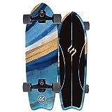 QUNHU Soporte de Surf de la Tierra para Adultos, 32 '' Stream Surfing Eje CX4 Eje CX4 Eje, Skateboard de Talla ABEC-11 Rodamiento, 7 Capas de Madera de Arce, Unisex Adulto (Color : Blue)