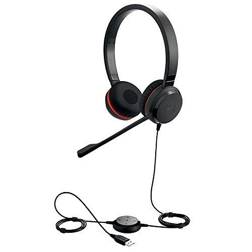 Jabra Evolve 30 II MS Stereo Auricular con micrófono Binaural Diadema Negro - Auriculares con micrófono (10-50 °C, -30-80 °C, Binaural, Diadema, Negro, Digital)
