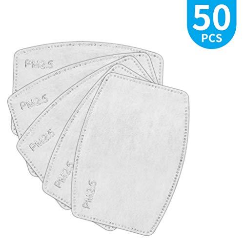 Einweg-Gesichtsstaubfilter 50 Stück Filter PM2.5, 5 Schichten Schutzkohlefilter Anti-Staub-Filter
