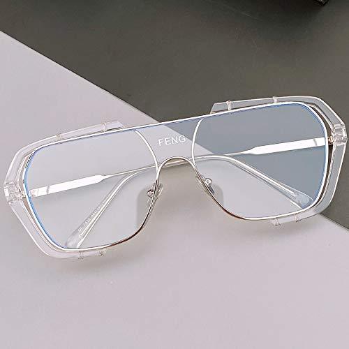 APCHY Gafas De Sol De Gran Tamaño para Mujer Protección UV400 Gafas De Montura Grande para Mujer Gafas De Sol De Mujer De Moda Vintage,F